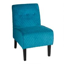 Teal Diamond Accent Chair