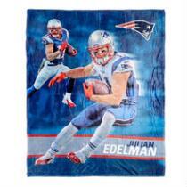 New England Patriots Julian Edelman Throw Blanket