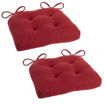 Diamond Indoor/Outdoor Tufted Square Chair Cushions, Set of 2