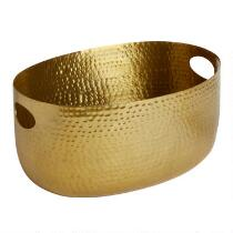 Gold Hammered Beverage Bucket