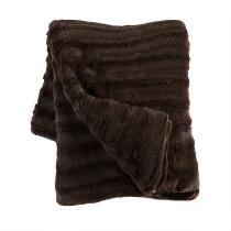 Solid Faux Fur Sculpted Throw Blanket