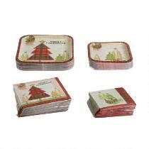 """Merry Christmas"" Woodland Paper Goods Set"