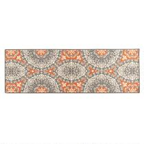 2' x 5' Darna Orange/Gray Medallions Runner Rug