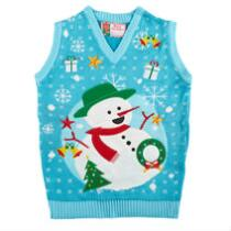 Christmas Snowman Ugly Holiday Sweater Vest