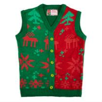 Reindeer Fair Isle Ugly Christmas Sweater Vest