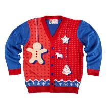Gingerbread Man Ugly Christmas Cardigan