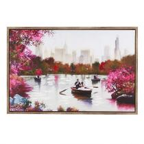 "24""x36"" Rowboats on the Pond Framed Wall Art"