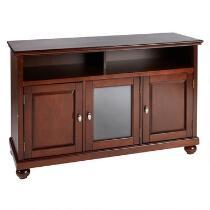 Walnut 3-Door Cabinet Television Stand