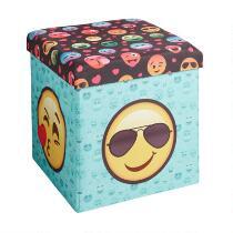 Emoji Faces Folding Ottoman