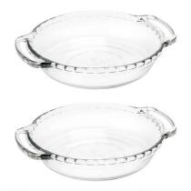 "6"" Anchor Hocking® Mini Glass Pie Plates, Set of 2"
