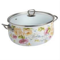 6.5-Qt. Floral Enamel Dutch Oven
