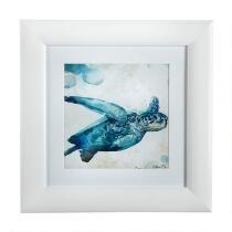 """12"""" Watercolor Sea Turtle Framed Wall Art"""