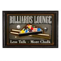 "16""x24"" ""Billiards Lounge"" Wall Sign"