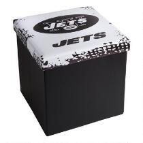 NFL New York Jets Logo Storage Ottoman