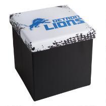 NFL Detroit Lions Logo Storage Ottoman