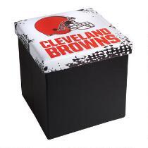 NFL Cleveland Browns Storage Ottoman