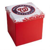 MLB Washington Nationals Storage Ottoman