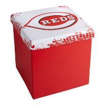 MLB Cincinnati Reds Logo Storage Ottoman