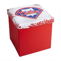 MLB Philadelphia Phillies Logo Storage Ottoman