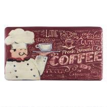 """Fresh Brewed Coffee"" Cushioned Floor Mat"