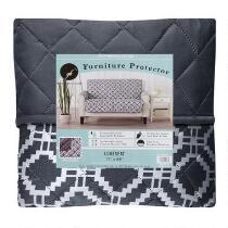 Diamond Pattern Reversible Loveseat Furniture Cover