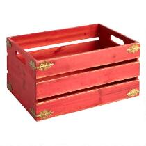 Holly Slatted Wood Crate