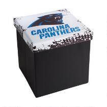 NFL Carolina Panthers Storage Ottoman