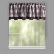 Plum Diamond Jacquard Window Valances, Set of 2