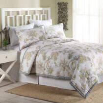 Zoe Yellow/Gray Floral Reversible Quilt