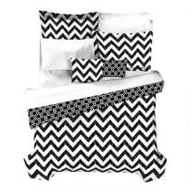 Casual Living by Jessica Sanders Black and White Chevron Reversible Comforter Set