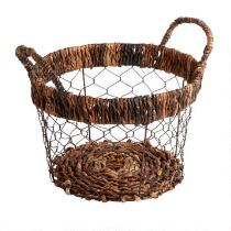 The Grainhouse™ Bacbac Woven Wire Round Basket