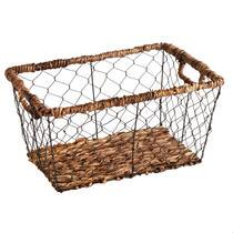 The Grainhouse™ Bacbac Woven Wire Rectangular Basket