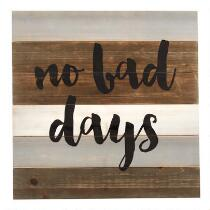 "The Grainhouse™ 24"" ""No Bad Days"" Wood Wall Sign"