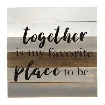 """The Grainhouse™ 24"""" """"My Favorite Place to Be"""" Wood Wall Sign"""