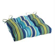 Blue/Green Striped Indoor/Outdoor Single-U Seat Pad