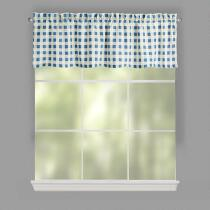 Plaid Print Window Valances, Set of 2