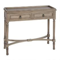 2-Drawer Tray Top Wood Console Table
