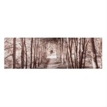 "18""x55"" Forest Path Canvas Photograph Wall Art"