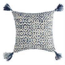 The Grainhouse™ Blue Diamond Tassel Square Throw Pillow