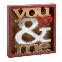 "8"" ""You & Me"" Cutout Box"