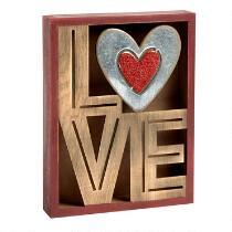 """7""""x9"""" """"Love"""" Cutout Box"""