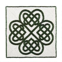 White/Green Celtic Beaded Placemat