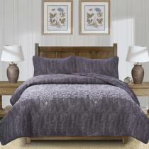 The Grainhouse™ Gray/White Reversible Quilt Set