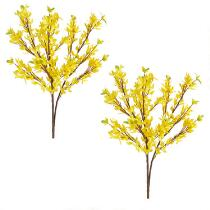 "The Grainhouse™ 23"" Faux Forsythia Floral Branches, Set of 2"