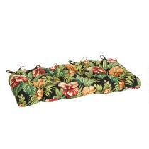 Tropical Flowers Indoor/Outdoor Double-U Bench Seat Pad
