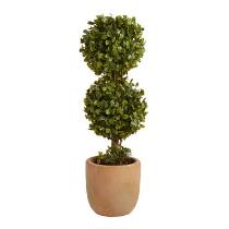 """The Grainhouse™ 15.75"""" Artificial Two-Tier Potted Topiary"""