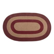 Solid Braided Oval Indoor Area Rug