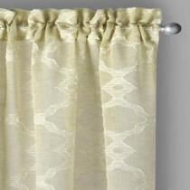 "The Grainhouse™ 84"" Sheer Clipped Jacquard Window Curtains, Set of 2"