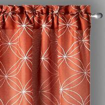 "84"" Perth Embroidered Window Curtains, Set of 2"
