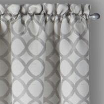 "Evolution™ 84"" Two-Tone Geo Window Curtains, Set of 2"